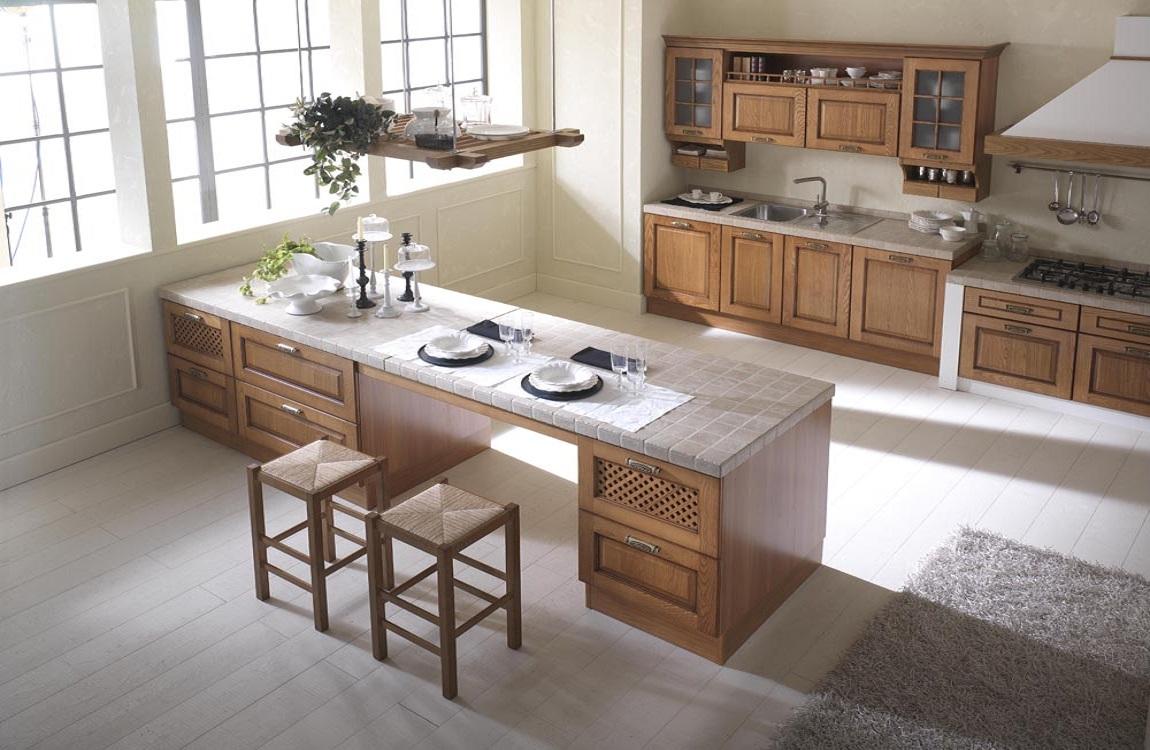 Cucine classiche - Cucine in legno chiaro ...