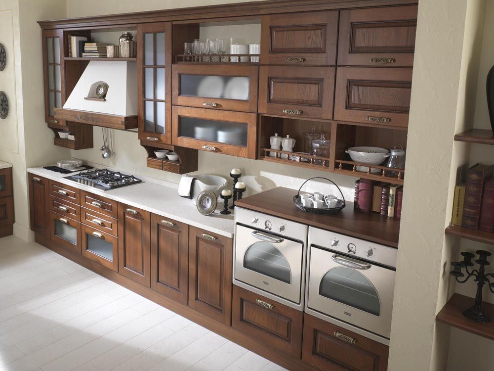mobili da cucina noce ~ mobilia la tua casa - Soggiorno Noce Massello 2