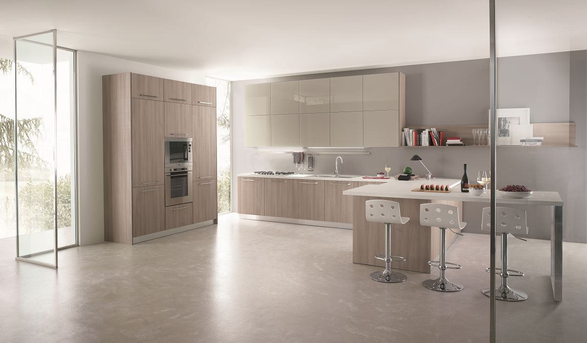 Cucine moderne - Cucine grigio perla ...